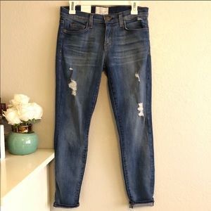 NWT Current Elliott the stiletto distressed Jeans